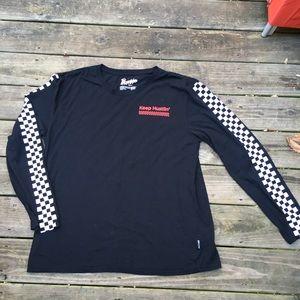 Brooklyn Cloth Mfg Co Black Racer Stripe L/S Tee